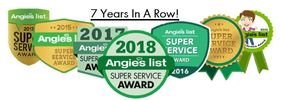 Angies List Super Service Award for Wilson Carpet and Air Duct Cleaning