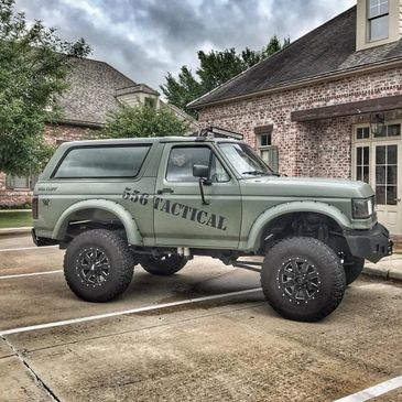 1989 Ford Bronco 6bt 12 Valve Cummins NV4500 SkyJacker 556 Tactical Olive Drab Green Stett