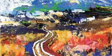 Hampshire Open Studios 22nd - 31st  August 2  Landscape paintings inspired by coast and countryside.