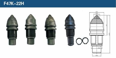 Cesco Deep Foundation Equipment  - Tungsten Carbide Teeth are made to the highest quality, the Steel