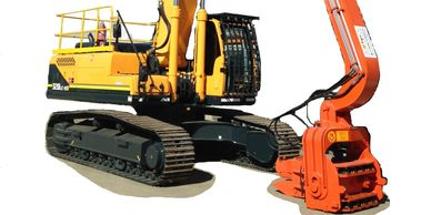 SFV Excavator Mounted Vibratory hammer Attachment -  Cesco Deep Foundation Equipment