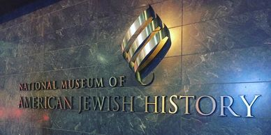 national museum of American jewish history sign in Philadelphia Pennsylvania