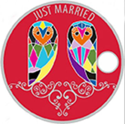 Limited addition Just Married two owl pathtag  Tag #45097 - Birds of a Feather