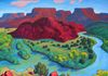 """Big Bend of the Chama,"" oils on canvas, 36x48"