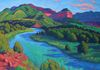 """Across the River and into the Wilds,"" oils on canvas, 30x40"