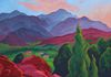 """Pikes Peak from High Point,"" oils on canvas, 24x24"