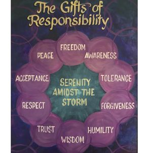 The Gift's of Responsibility, Serenity amidst the storm, Freedom, Awareness, Tolerance, Forgiveness