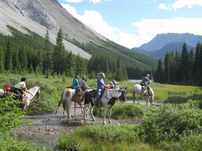 Backcountry pack trips and horse drawn wagon adventures into the Canadian Rocky Mountains.