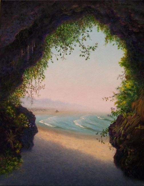 """New Perspective""   14 x 11 Original painting by Jeff Stanley.  Moonstone Beach, Trinidad, CA."