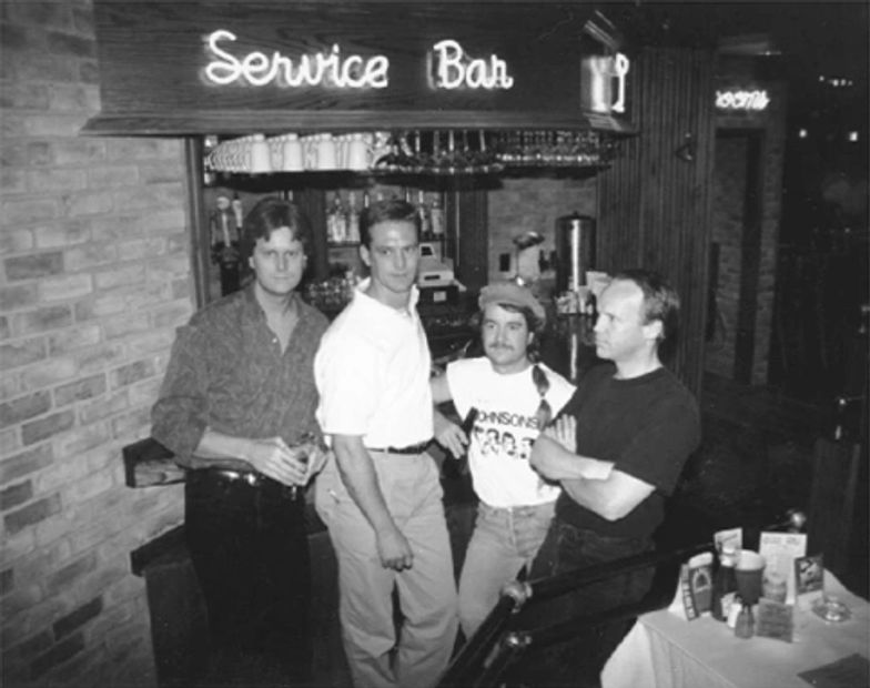 The original Neo Johnsons at Champps in Sioux Falls 1995 - Corey Ward, Dave Gates, Victor Nemec and