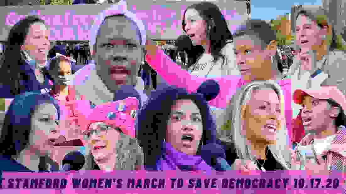 Stamford Women's March to Save Democracy, October 17, 2020 #WomensMarch #SaveDemocracy