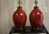 Pair of Edgefield Lamps in Pomegranate