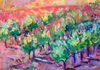 "Vineyard II, Acrylic, 8""x10"", Original, $1,200 Contact the artist for shipping"