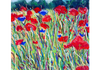 "Monets Poppy, Pastel, 9""x12"", Sold"