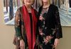 First Lady Susan Hutchinson and Artist Mary Louise Porter
