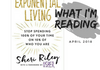 This month we're reading and discussing Sheri Riley's 'Exponential Living'. Visit the resources page for more information!