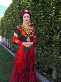 Odalys Nanin as Frida Kahlo in my hit play FRIDA- Stroke of Passion. Winner of two  EDDON awards.