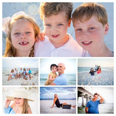 Family Portraits and High School Senior Sessions are always better on the beach!