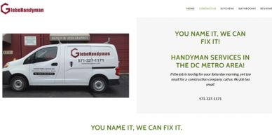 Website for handyman.  Web site Creation SEO for web sites.
