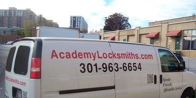 Locksmith truck lettering SAVE