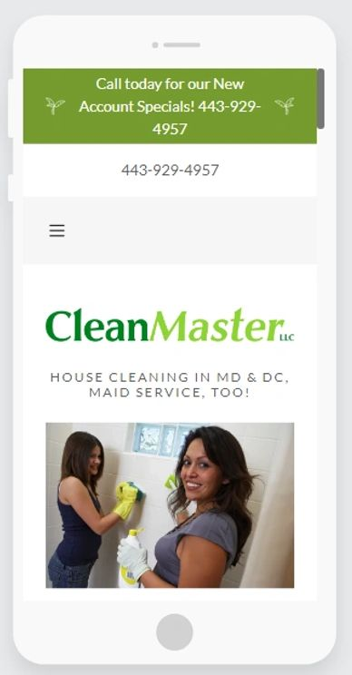 Web Site Design in Maryland  CleanMasterLLC.US