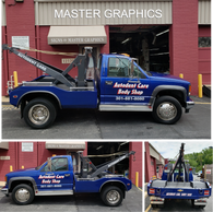 Tow Truck Lettering in Rockville  Rockville Vehicle Wraps