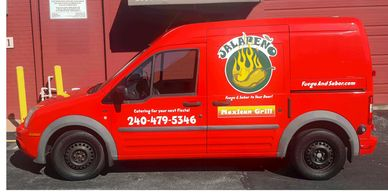 Catering Truck lettered in Maryland  Latino Food Truck