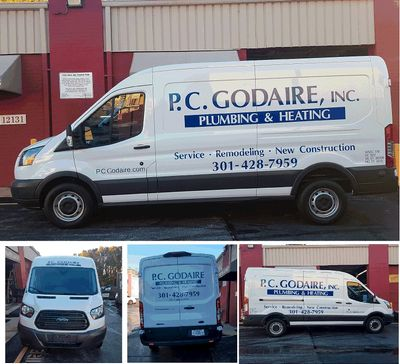 P.C. Godaire Vehicle Lettering. Van Lettering in Gaithersburg Damascus signs