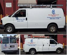 CHristian Mechanical Services Van Lettering by Master Graphics