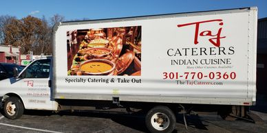 Catering Vans Lettered. Truck Lettering Indian Food Catering