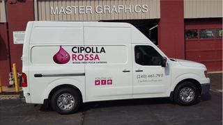 Cipolla Rossa Van lettered by Master Graphics