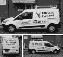 Red Stag Plumbing Rockville Signs Rockville Truck Lettering