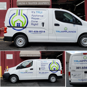 Van Lettering in Rockville Montgomery County Van Wraps