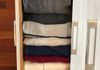 """File Folding"" your sweaters & shirts saves space!"