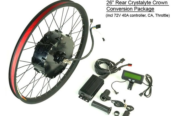 Crystalyte Crown Motor Electric Bike Conversion Kit