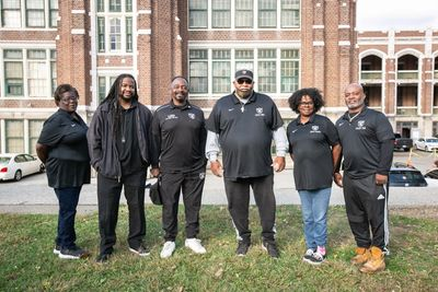 L to R- Shawanna Lasley, Tony Hill,  Rev P. Mingo,  Jerry Chancellor,  Marye Ward, William Rosemond