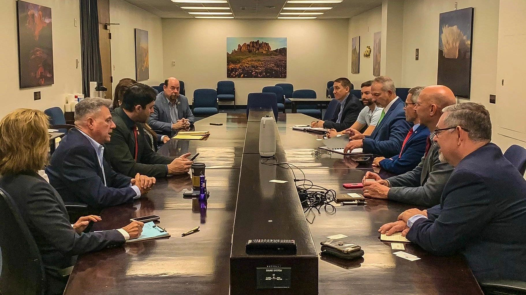 Legislative delegation from the Palestinian Authority sits with Arizona lawmakers