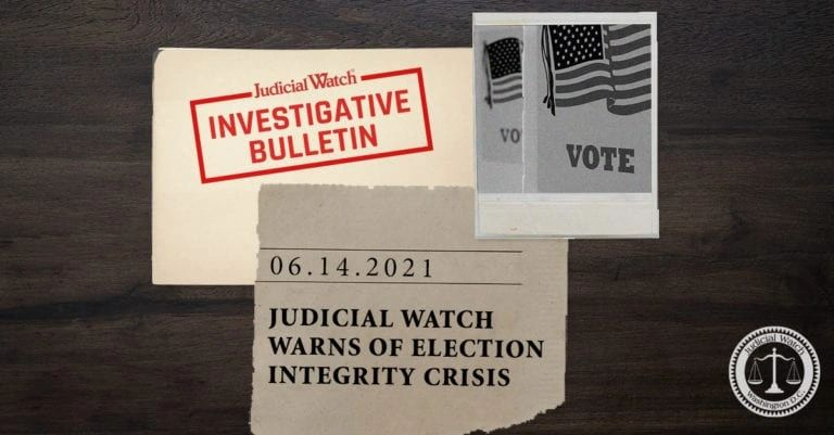 Judicial Watch warns of electoral integrity crisis