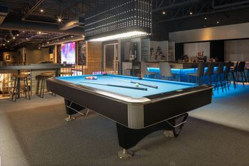 Black Crown Commercial Pool Table by Canada Billiard