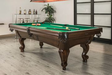 Majesty Pool or Snooker Table with Ram's Head legs by Canada Billiard