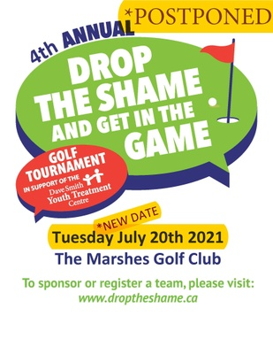 Drop The Shame Get In The Game Golf Tourney