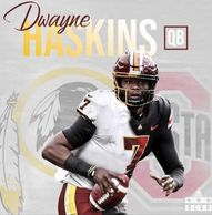 Dwayne Haskins Jr. is an American football quarterback for the Washington Redskins of the NFL