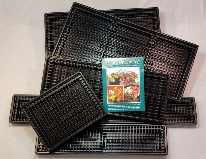 Full line of Humidi-Grow humidity trays manufactured by Betacrafts.