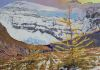 Larches on The Highline, 36 x 48, Available for sale through Mountain Galleries