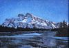 Mount Rundle at Night, SOLD