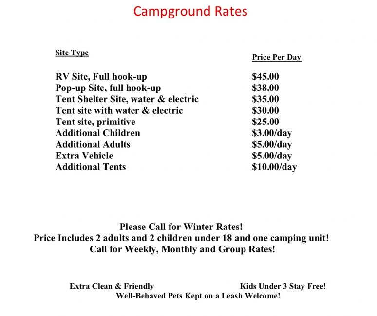 Flaming Arrow Campground Smoky Mountains Cherokee camping rates