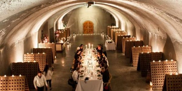 Cave dinner Napa Valley California