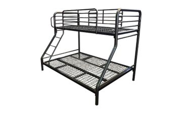 Metal bunk bed. metal mesh bases. tapers. commercial. single double size. certified. bunk. TubeCo