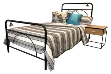Summerset. metal bed. Harvey Norman. bed manufacturers. TubeCo. Single. Double. King Single. Queen