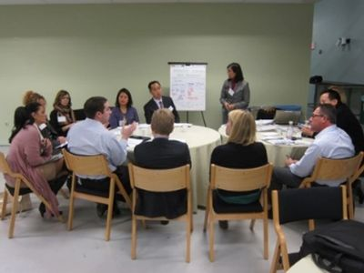 Healthcare innovation centers meeting to exchange best practices.